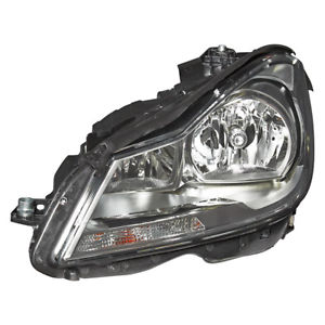 W204 Halogen Headlight With Chrome Left Hand Side Facelift (NEW)